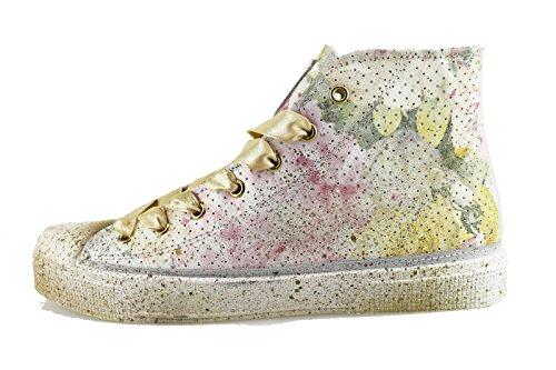 BEVERLY HILLS POLO CLUB sneakers donna multicolor pelle camoscio AH997 (37 EU)