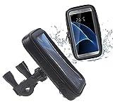 DaoRier Agua Densidad Bicicleta Moto Bike Carcasa ABS 360 grados Soporte universal bicicleta manillar Soporte para teléfono móvil impermeable para iPhone 6 6S Samsung Galaxy S4 (L)