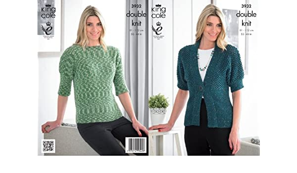 Womens Double Knitting Pattern Ladies Lace Jumper /& Top King Cole DK 5044