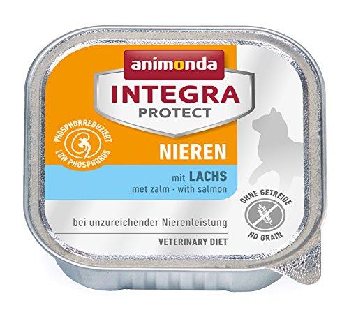 Animonda Integra Protect Nieren mit Lachs 16 x 100 g Schalen, 1er Pack (1 x 1.6 kg)