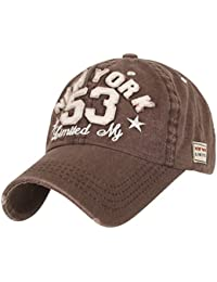 Ililily nEW yORK 53 3D polices vintage patch style casual baseball casquette