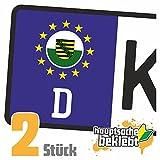 Sachsen Kennzeichen Aufkleber Sticker Nummernschild Land Country Nation