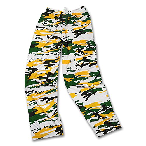 Zubaz Herren NFL Camo Print Team Logo Casual Active Pants, Herren, Men's NFL Camo Print Team Logo Casual Active Pants, Green/Gold/Black, X-Large - Green X-large Camo