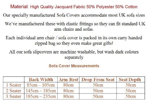Home Comforts Universal Elastic Fitting 2 Seater Acquard Sofa Cover – Black