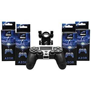 Smokezilla AXOR Clear Shisha PS4 Halter für Shisha-Mundstück | PS4 | Playstation Controller Halter (Schwarz-Transparent)