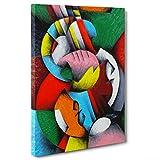 Bild auf Leinwand Canvas–Gerahmt–fertig zum Aufhängen–Gitarre Musik–Kubismus–Picasso Style Dimensione: 70x100cm A - Senza Cornice
