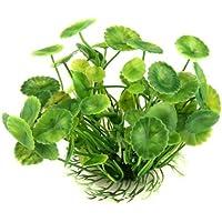 TOOGOO(R) Plante Feuilles de Lotus Artificielle Aquatique en Plastique Vert Deco Aquarium
