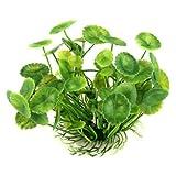 TOOGOO(R) Plante Feuilles de Lotus Artificielle Aquatique en Plastique Vert Deco...
