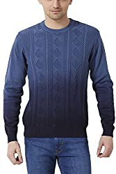 Peter England Mens Regular Fit Sweater_ JSW51504408_XL_ Blue