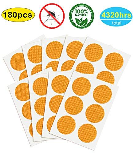 YSense 180 Pcs Anti Moskito Insect Repellent Mückenschutz Aufkleber Aufnäher mit Citronella Für Outdoor und Innenschutz