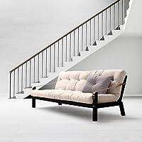 KARUP - POETRY, divano letto composto da futon ecru su struttura in legno tinto nero
