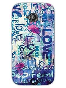Moto E2 Back Cover - Love - The Wall Of Love - Designer Printed Hard Shell Case