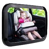 Zacro Rücksitzspiegel für Babys Babyspiegel für Autositz Einstellbar Sicherheitsspiegel Babyspiegel schwarz