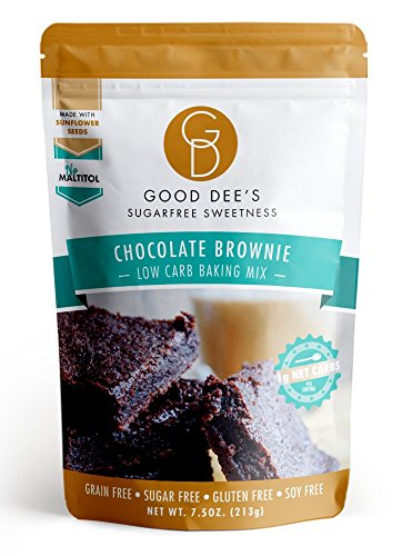 Good Dee's Cookie Mix Low Carb, Zuckerfrei, Glutenfreie Brownie Mix 7,5 Unzen (Brownies Carb Low)