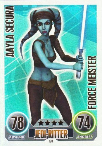 Star Wars Force Attax Einzelkarte 178 Aayla Secura Jedi-Ritter Force Meister ... (Jedi-meister Star Wars,)