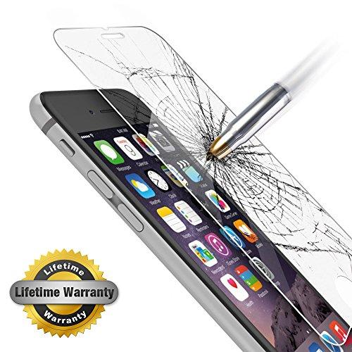 iPhone 6 Plus, Gembonics vetro di sicurezza pellicola protettiva, 99% touch-Display, segue Edge, circa [0,3 mm), trasparente, al 13,97 cm Display, urto, cadute, graffi e macchie 1 Pack Glass