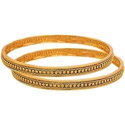 JFL - Traditional Ethnic One Gram Gold Plated Bead Designer Bangles for Women & Girls