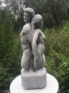 Steinfigur Schnecke ca 4,9 kg frostfest wetterfest Gartenfigur Steinguss Garten
