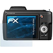 atFoliX Lámina Protectora de Pantalla para Olympus SP-620UZ Película Protectora - 3 x FX-Clear ultra transparente Protector Película