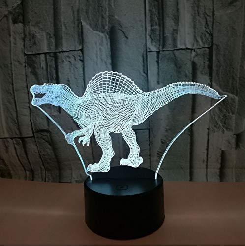 3D Dinosaurier Geschenke Spielzeug Dekor LED Nachtlicht mit Fernbedienung, 7 LED Farbwechsel Beleuchtung, ABS Basis, USB Gebühr für Wohnkultur, Spielzeug Geschenke Idee Weihnachtsgeschenk