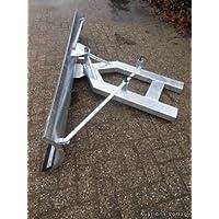Schneepflug Schneeschild Universal Schneeschieber für Gabelstapler Vollverzinkt / nach Links und Rechts schwenkbar / 150 x 40 cm
