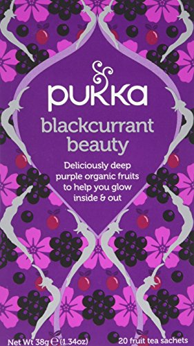 Pukka Blackcurrant Beauty, Organic Fruit Tea with Rosehip (4 Pack, 80 Tea bags)