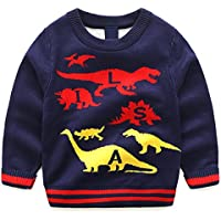 Little Boys Lucky Elephant Sweaters Jumpers Sweatshirt Pullover Sportswear Tops 1-8Y