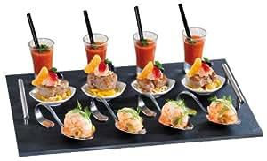 Kesper 38114 vassoio per buffet flying con maniglie 4 for Ardesia per cucinare