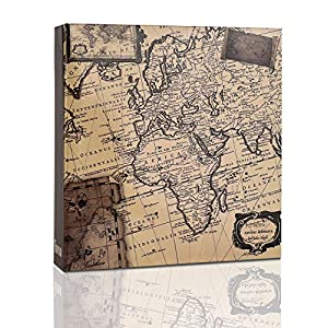 ARPAN Photo Album Slip In Case Memo Photograph For 200 x 4 x 6 Inch / 10x15 cm Picture (Old Map)