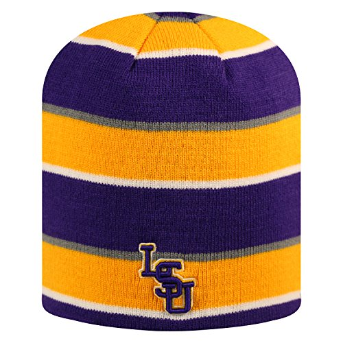 Top of the World wendbar Disguise Skull Cap-NCAA Mütze ohne Aufschlag Knit Hat, Unisex, LSU Tigers, Reversible Knit -
