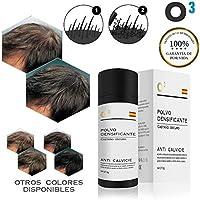 O³ Fibras Capilares Castaño Oscuro - Keratin Fibers Castaño Oscuro 100% Natural para Disimular Calvicie