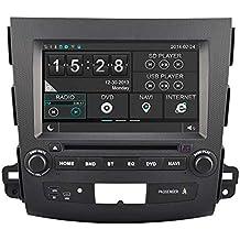 Witson® para 2007–2012Mitsubishi Outlander y Citroen C-CROSSER DVD del coche GPS navegación Video Audio sistema estéreo con pantalla táctil capacitiva Radio (AM/FM) ayuda SD/USB/iPod/iPhone/3G/Video/DVR/back up cámara/Bluetooth para manos libres/control del volante