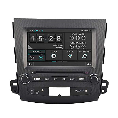 Witson® Autoradio stereo audio/video con navigatore GPS e DVD, per