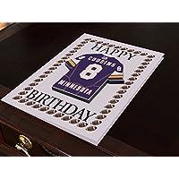 Geburtstagskarte mit amerikanischem NFL-Football-Jersey-Motiv, NFC-Liga (personalisierbar, jedes Team, jede Nummer, jeder Name)