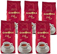 Gimoka Gran Bar, Café en Grains, Lot de 6, 6 x 1kg