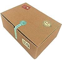 Cajas de regalo, juego de 10cajas de panadería para galletas, magdalenas, Chocolate, 37pegatinas decorativas incluidas