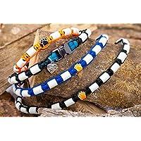 Zeckenhalsband für Hunde, EM Keramik Halsband mit Metallverschluss und einem Maximum an EM Keramik, Maßanfertigung