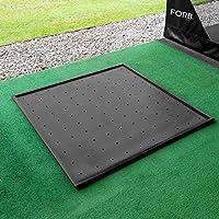 Net World Sports FORB Gummi Golfmatten Basis [156cm x 156cm] - Anti-Rutsch Gummibasis für den Gebrauch mit Einer 1.5m x 1.5m Golf Standmatte oder Abschlagmatte geeignet