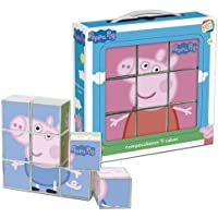 Cefa Toys Peppa Pig Rompecabezas, 9 cubos Miscelanea 88233