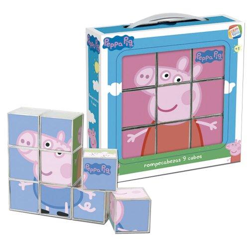 Cefa Toys Peppa Pig Puzzle, 9Cubes 88233