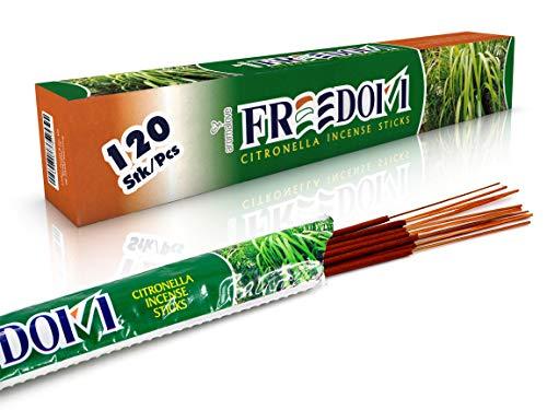 120 x Mückenabwehr Anti Mücken Räucherstäbchen mit Citronella Duft für Garten Outdoor Camping gegen Insekten, Alternative zur Fackel Kerze Lampe Spirale oder Räucherkerzen