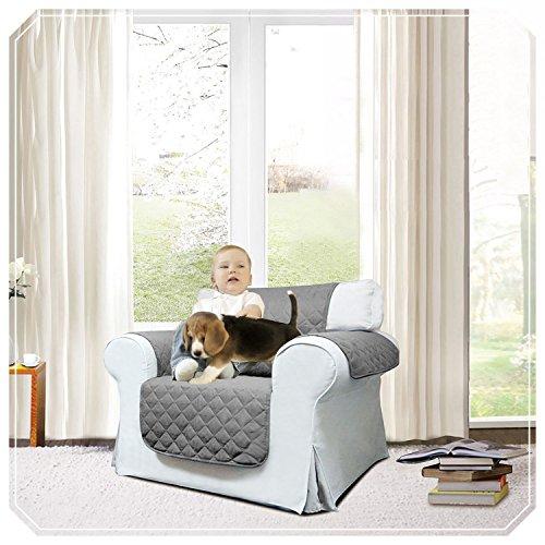 Sunrise Home Möbel (Top Qualität geprägten Muster Rutschfest Sofa Bezug | rutschsicheren | wasserabweisend | waschbar All Season gesteppt Sofa Bezüge Wirft erhältlich in drei Größen 1,2& 3SEATERS, dunkelgrau, One Seater ( 165 x 179 CM ))