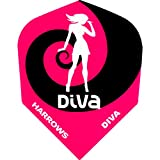 Dart Flights-Harrows Flights-Diva-Pink Swirl-1Set (3)