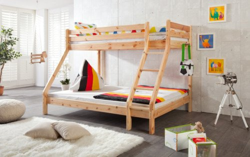 Etagenbett Unten 140 Oben 90 : Doppelstockbett etagenbett unten oben kinderbett