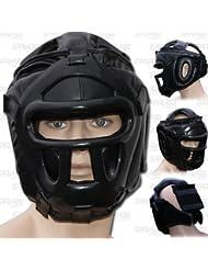 Farabi Guardia Protector de cabeza Cara de ahorro de casco con la cara frontal extraíble Grill (M)