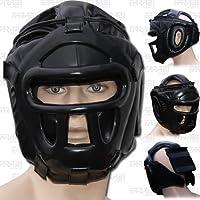 Farabi Sports Boxing HeadGuard, Helmet Head prototector Gear Real Leather (X-large)