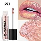 12Colori Rossetto, Beauty Top Perla di metallo Liquido Pennarelli Kit Rossetti Lip Stick Trucco da Labbra (02#)