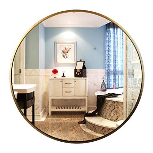 Runde Wand Dekorative Spiegel Goldrahmen Eitelkeit Make-Up Badezimmer Rasieren Dressing Schlafzimmer Flur Wohnzimmer Qualität Glas (30 cm-80 cm) -