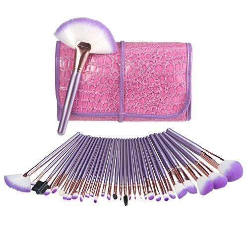 Make Up Pinsel Uspicy 32-tlgs Schmink Pinselset Etui Schminkpinsel Makeup Brush Set Kosmetik Lidschattenpinsel Highlighter Gesichtspinsel mit Tasche Geschenk