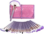 Makeup Brush Set, USpicy 32 Pieces Professional Makeup Brushes Essential Cosmetics With Case, Face Eye Shadow Eyeliner Found